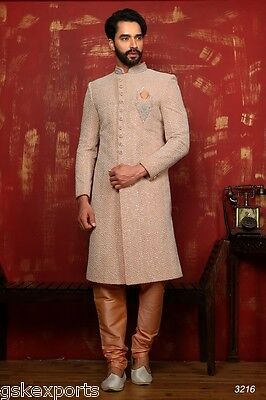 Pakistani Mens Bollywood Gents Ethnic Wear Traditional Sherwani Dress India