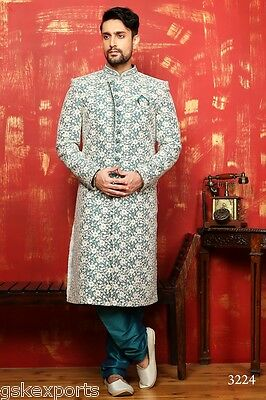 Gents Bollywood Wear Traditional Pakistani Wedding Sherwani Dress From India