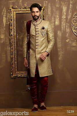 Mens Pakistani Wedding Wear Designer Traditional Indo Western Dress From India