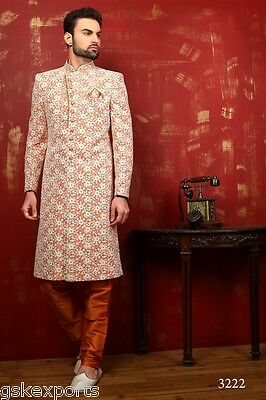 Pakistani Mens Designer Wear Traditional Bollywood Sherwani Dress From India