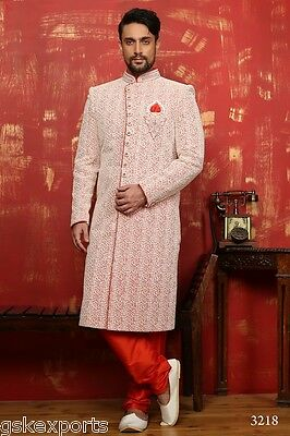 Indian Traditional Wedding Ethnic Designer Bollywood Wear Sherwani From India