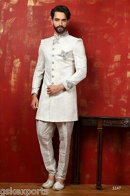 Mens Ethnic Wear Designer Bollywood Wedding Indo Western Dress From India