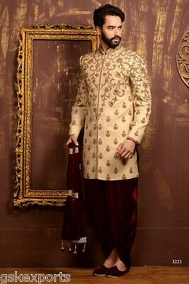 Mens Traditional Ethnic Wear Designer Indo Western Wedding Dress From India