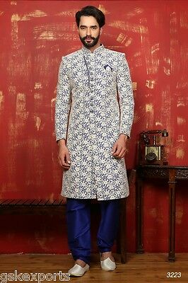 Indian Ethnic Wear Traditional Bollywood Wedding Wear Sherwani Dress From India