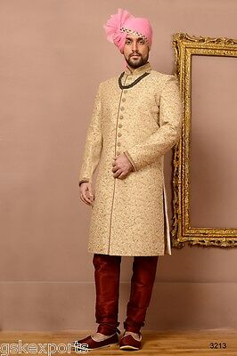 Mens Traditional Wear Designer Bollywood Sherwani Wedding Dress From India