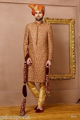 Mens Ethnic Designer Wear Traditional Bollywood Sherwani Dress From India