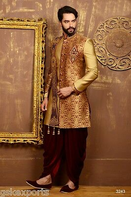 Indian Traditional Gents Pakistani Bollywood Wear Indo Western Dress From India