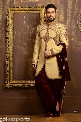 Indian Bollywood Traditional Embroidered Wedding Velvet Indo Western From India