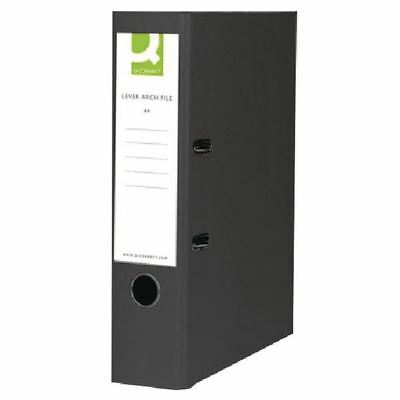 Q-Connect Black Foolscap Polypropylene Lever Arch File (Pack of 10) [KF20025]