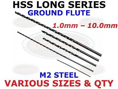 SINGLE LONG SERIES HSS DRILL BITS SIZES 1mm – 10mm FOR METAL WOOD PLASTIC