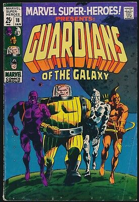KEY SILVER AGE 1969 MARVEL SUPER HEROES #18 - 1st APP GUARDIANS of the GALAXY