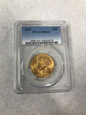1932 $10 Gold Indian MS64+ PCGS