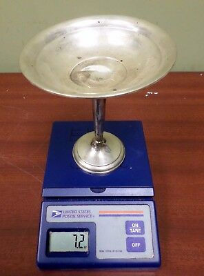 """7.2 oz Vintage 6"""" Sterling Silver Compote Weighted Base DENTED for SCRAP Antique"""