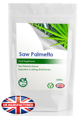 Saw Palmetto Extract 500mg (180 Vegan Tablets) Hair, Prostate, Urinary Health UK