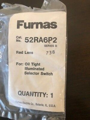 Furnas 52Ra6P2 Oil Tight Illuminated Selector Switch Red Lens