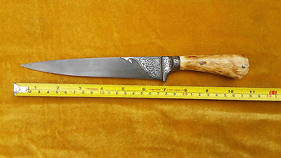 Rare Mughal Islamic Indo Persian Ottoman Silver Damacened Dagger Sefety Knife