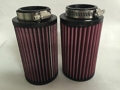 Pair Fit Stock Carb 87-06 Banshee Air Filter-AF1050 and Pre Cover