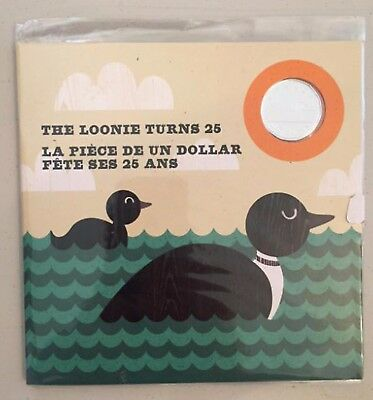 1987-2012 Limited Edition Silver Plated $1 Loon LOONIE TURNS 25 in RCM Packaging
