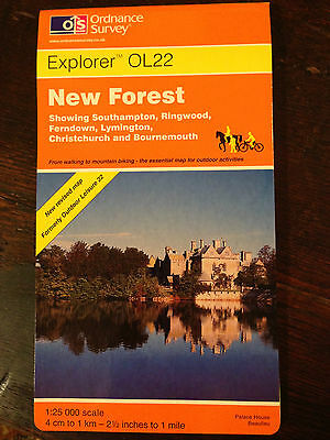 OS Explorer Map: New Forest.