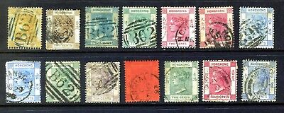 Hong Kong Queen Victoria Collection From 1863: 14 Stamps Good Used