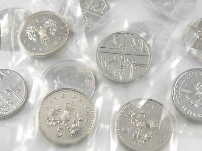 Five Pence Coins 5p 1990 to 2018 Choose your Year - Brilliant Uncirculated - UK