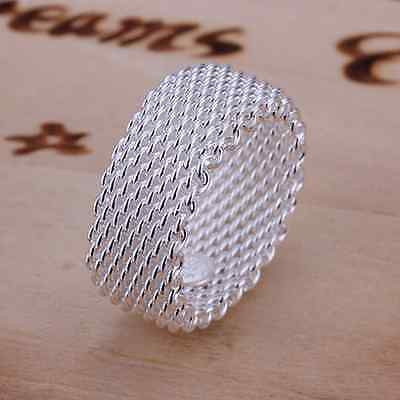 New Hot Lady/Women Silver Jewellery 925Silver Hollowed Rings+Gift Box