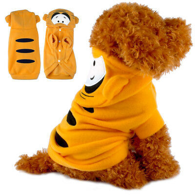 Dog Costume Tiger Chihuahua Clothes Pet Puppy Coat Hoodie Winter Apparel Outfit