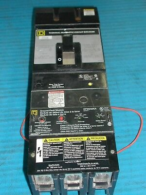 Used Square D Kc34200G 200 Amp Circuit Breaker With Gfm250Ka Ground Fault K3