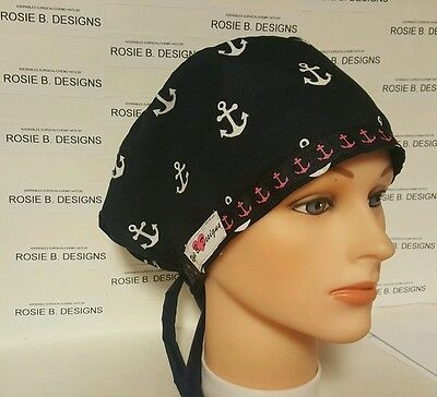 Anchors /pixie Hat   Scrub / Medical  Hat / Cap / Chemo