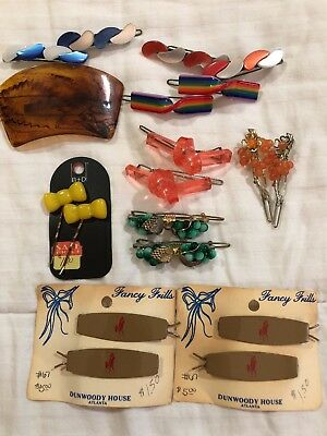 Lot of 19 unique and beautiful vintage hair clips
