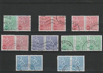 Finland - Assorted Used Definitive Stamps.