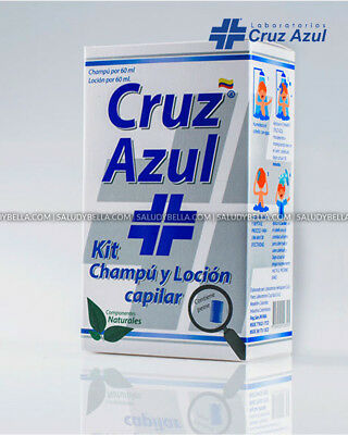 Cruz Azul Treatment Shampoo and Lotion for lice, nits Extremely Efective 60ml ea