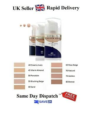 !!RRP£9.99!! Max Factor Colour Adapt Foundation 34ml - Choose Your Shade