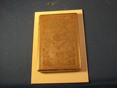 Vintage sterling silver card case, hand engraved, 4 3/4 by 3 1/8 inches
