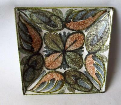 Denby Pottery New Glynware Pattern Square Tray 13cm Sq made in Stoneware
