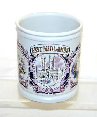 Denby Pottery Regional Series Mug Featuring the East Midlands made in Stoneware