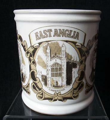 Denby Pottery Regional Series Mug Featuring East Anglia made in Stoneware
