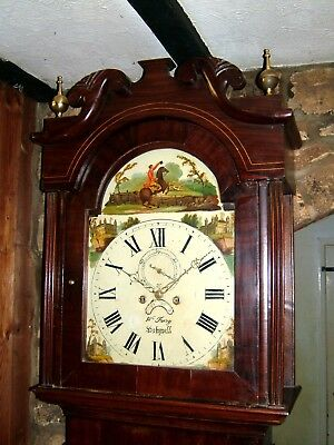 A substantial Victorian Mahogany & Inlaid Grandfather Longcase Clock C1850-60