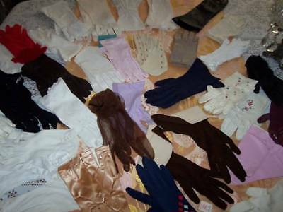 C.1940-60 32 PR French~Italian~Leather~VanRaalte GLOVES~I love Lucy CUFFED++