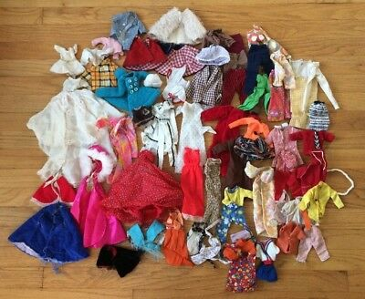 Lot of Assorted Barbie Doll Clothes Mostly Handmade