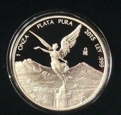 "** 2015 Mexican 1 oz Silver Libertad  ""Proof"" / ONLY 6400 minted/ SOLD OUT !! **"