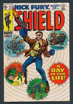 SILVER AGE MARVEL COMICS NICK FURY of SHIELD #14 - SUPER SOLID COPY VF OR BETTER