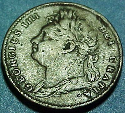 Great Britain UK - 1826 - Farthing - George IV - Nice Mid-Grade Copper Coin