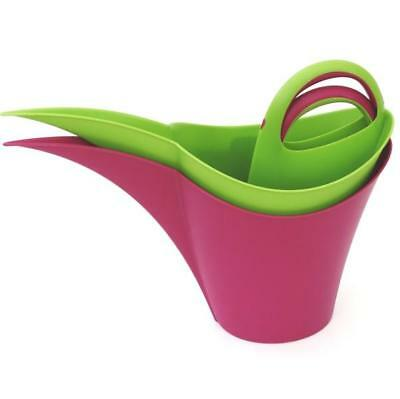 KEIRA(TM), | 5 Litre Watering Can - Raspberry & Apple Green Set of 2