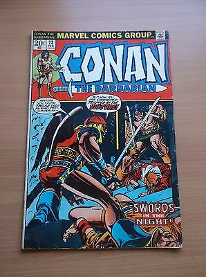 Marvel: Conan The Barbarian #23, 1St Cameo App Of Red Sonja, 1973, Vg+ (4.5)!!!