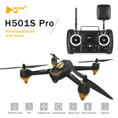 Original Hubsan H501S Pro X4 5.8G FPV Brushless Drone 1080P Camera 10 Channel