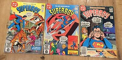 Lot of (3) DC NEW ADVENTURES OF SUPERBOY 1981 #13 #20 #24