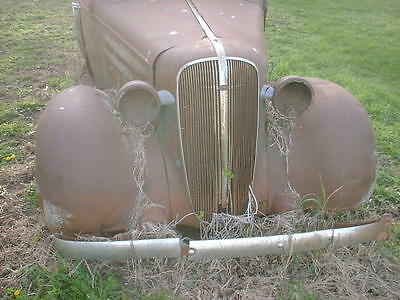 1936 Chevrolet sedan SUICIDE 4dr Hump back TRUNK Original Patina PARTSoR RESTORE