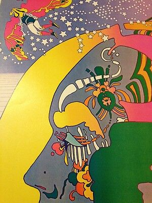Rare Vintage Peter Max Nutriment Number Two Psychedelic Art Poster Pop Op