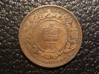 Nice Looking 1864 New Brunswick Short 6 Canada Cent